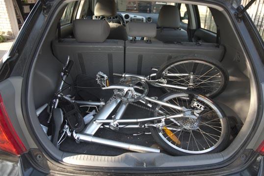 how to put a bike seat down