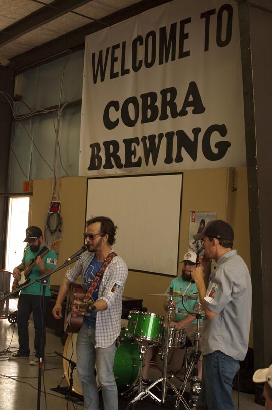 Rhythm and Beards playing at the Cobra Brewing Company in Lewisville, Texas.