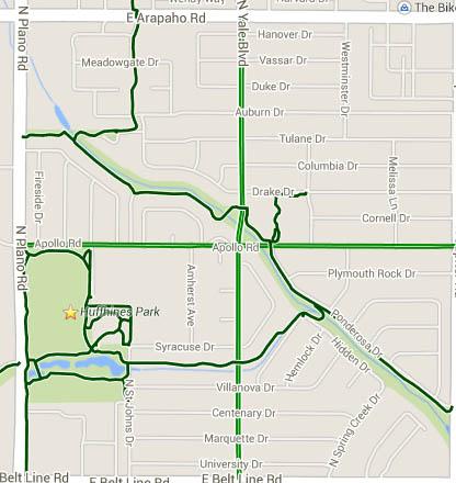 Duck Creek bike paths/lanes