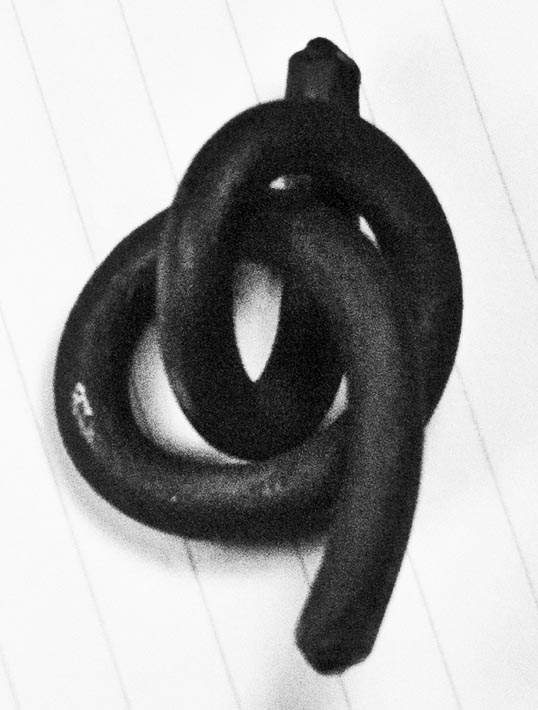Decorative Knot, made by a blacksmith at Frisco Heritage Museum, Frisco, Texas