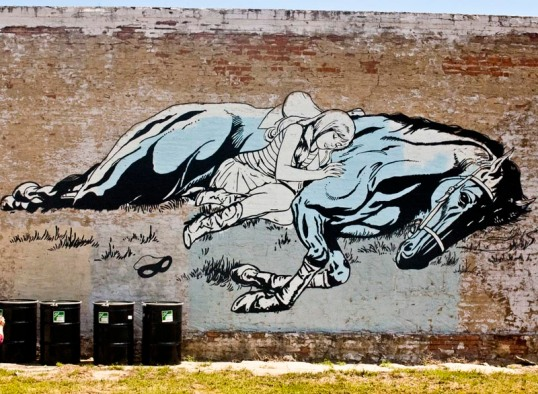 Mural by Faile, Exposition Park area, Dallas, Texas