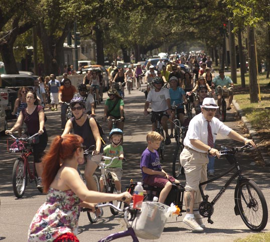 Bicycle 'Second Line New Orleans, Louisiana