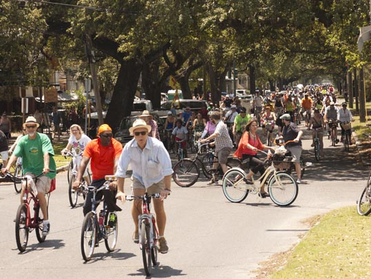Bicycle Second Line New Orleans, Louisiana