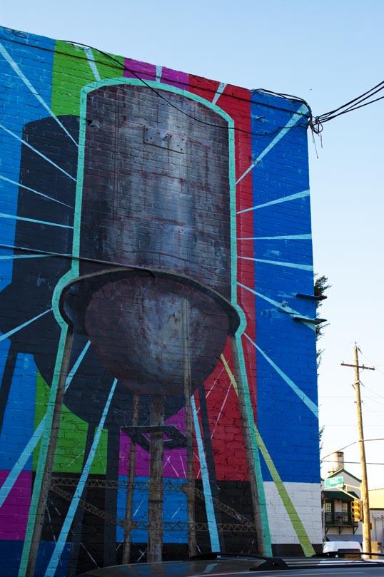 Water Tower Mural Deep Ellum Dallas, Texas