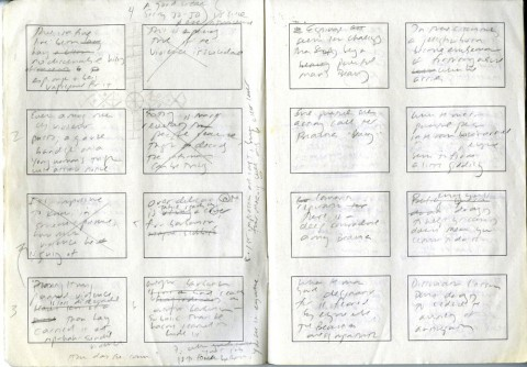 "Jennifer Egan's handwritten version of the Twitter Short Story ""Black Box."""