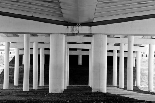 Underneath the Margaret Hunt Hill Bridge.  (click to enlarge)