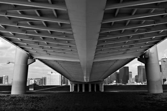 Underneath the Margaret Hunt Hill Bridge.  (click to enlarge)