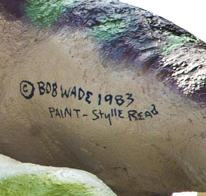 Artists' Signatures - Bob Wade, and Stylle Read