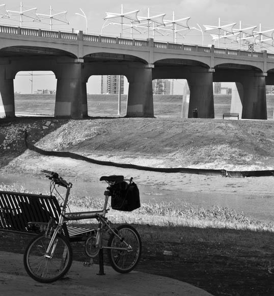 My Xootr folding bicycle, Trinity River Bottoms, Dallas, Texas