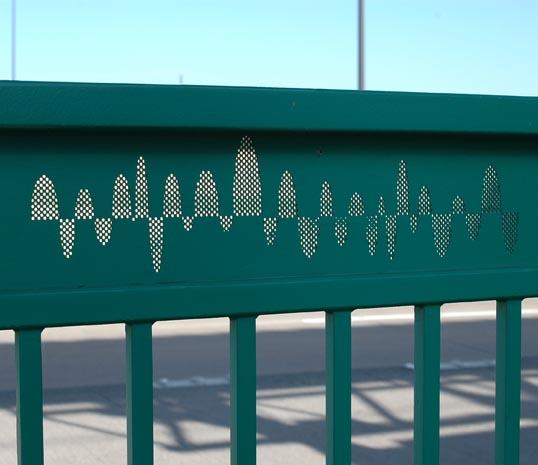Fence at Galatyn Park Sation.