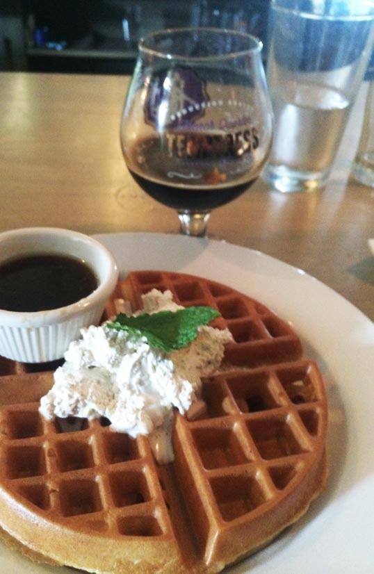 Temptress-Topped Waffle, Brewed, Fort Worth, Texas