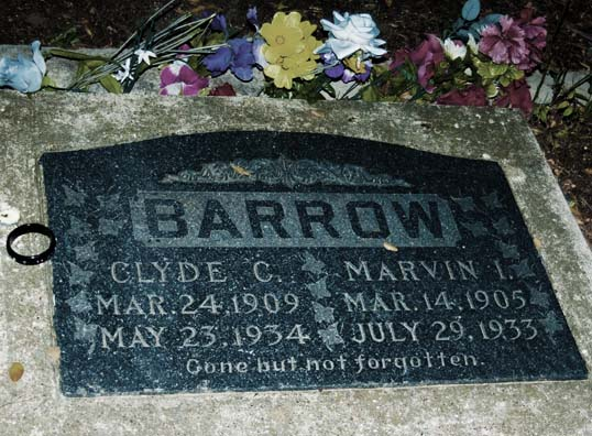 Grave of Clyde Barrow and his brother, Buck.