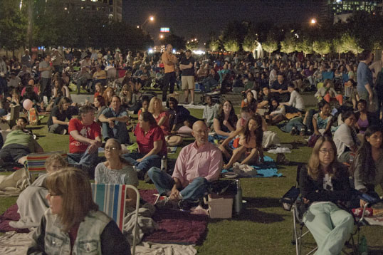 They said there were four thousand people watching the simulcast.