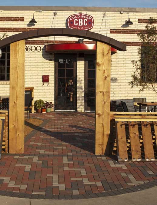 Patio in front of the Cold Beer Company, Deep Ellum, Dallas, Texas
