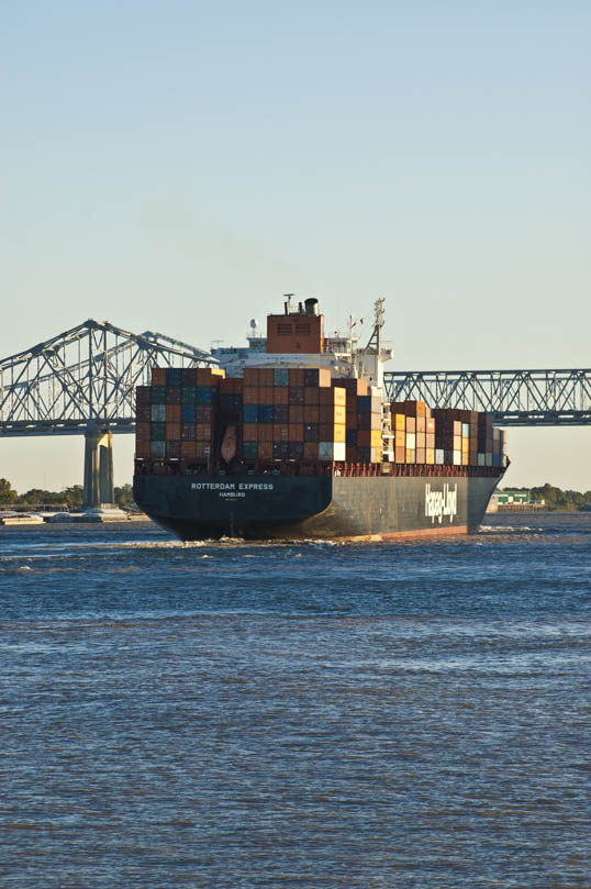 Rotterdam Express Container Ship New Orleans, Louisiana