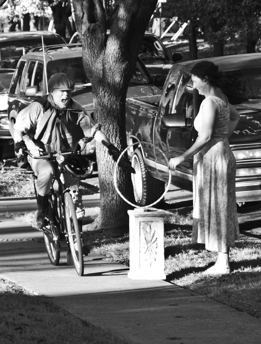 Bicycle Joust Dallas Tweed Ride Turner House Oak Cliff, Dallas, Texas