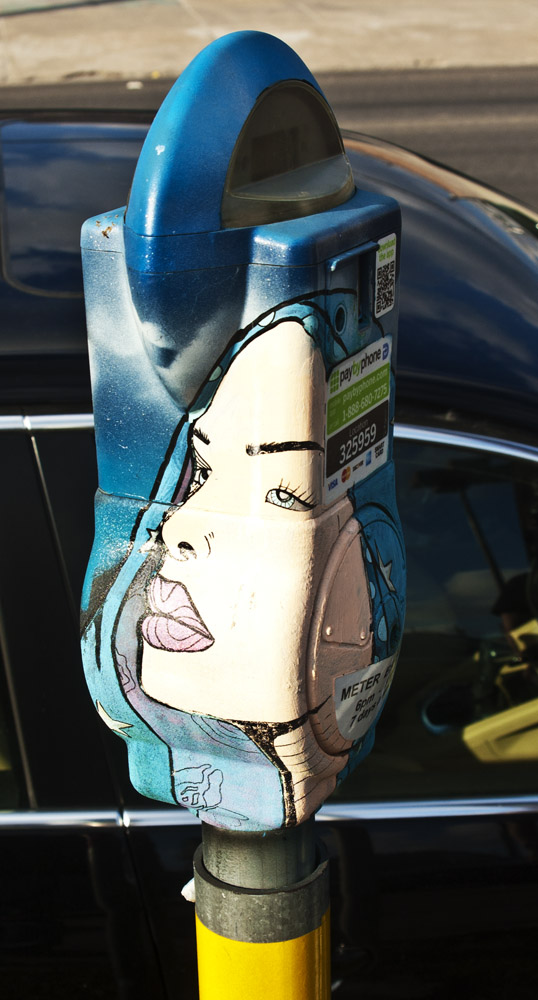 Painted Parking Meter Deep Ellum Dallas, Texas