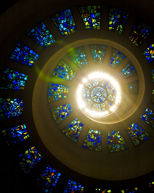 Ceiling of the chapel, Thanksgiving Square, Dallas, Texas