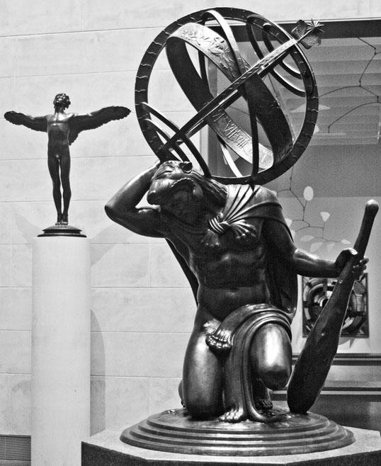 Paul Manship American, 1885-1966 Hercules Upholding the Heavens 1918 Bronze The Museum Of Fine Arts Houston, Texas