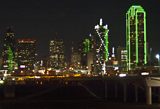 Dallas Skyline from the Continental Bridge Park