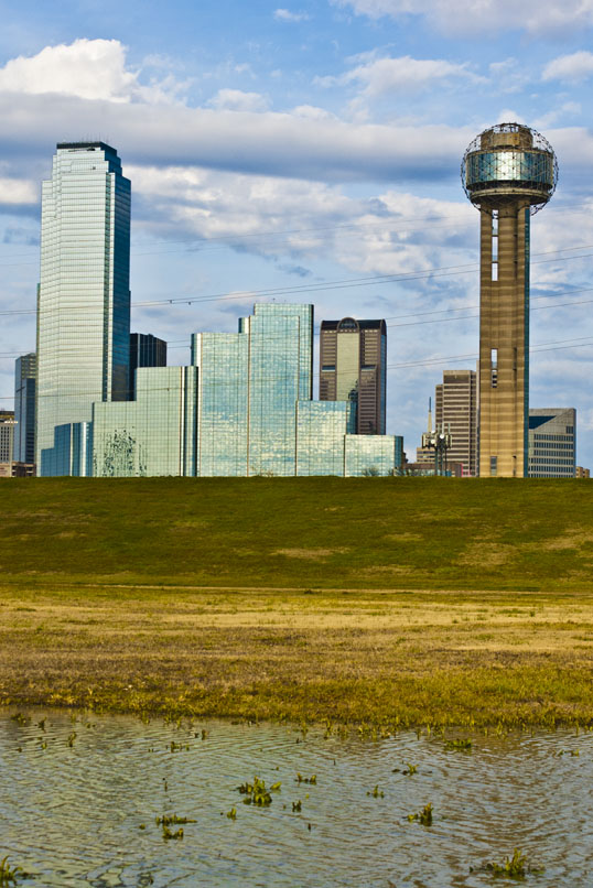 Dallas from the Trinity River Bottoms