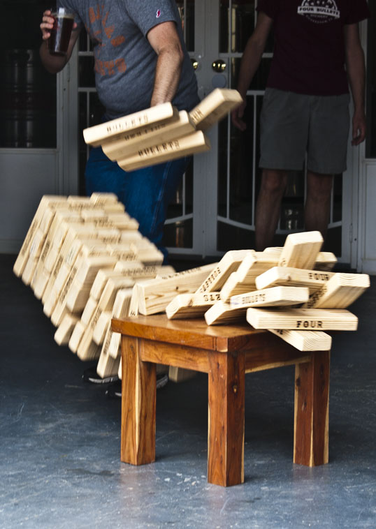 """But if fell later as they tried to move another piece. Note the rare """"suspended section"""" of blocks. I'm not sure of the physics of leaving a few behind for a handful of microseconds."""
