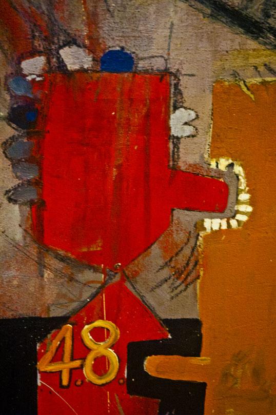 Adhesiveness (detail) David Hockney Modern Art Museum of Fort Worth