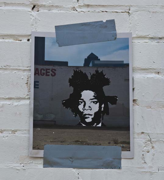 Design for an Eric Mancini mural of Jean-Michel Basquiat Downtown Dallas, Texas
