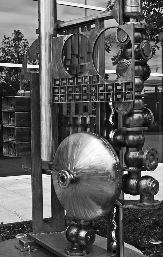 The Stainless Internet George Tobolowsky 2015, Stainless Steel Hall Sculpture Garden Dallas, Texas