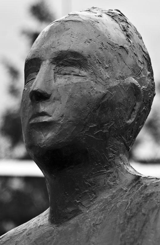 Reflection 'Series XI Deborah Ballard 2011, Cast Stone, Mixed Media Hall Sculpture Plaza Dallas, Texas