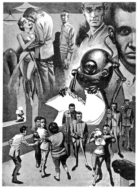 Artwork for The Creature from Cleveland Depths, Galaxy Magazine, December 1962 Artwork by Wally Woods