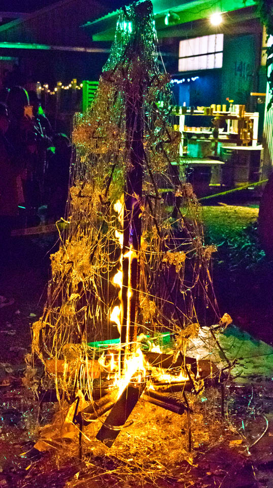 Christmas Tree Bill.Molten Glass Christmas Tree Bill Chance